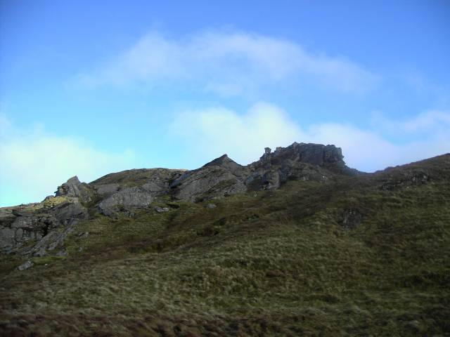 Rock formation on ridge to Carnach Mor, 14 Jan 06