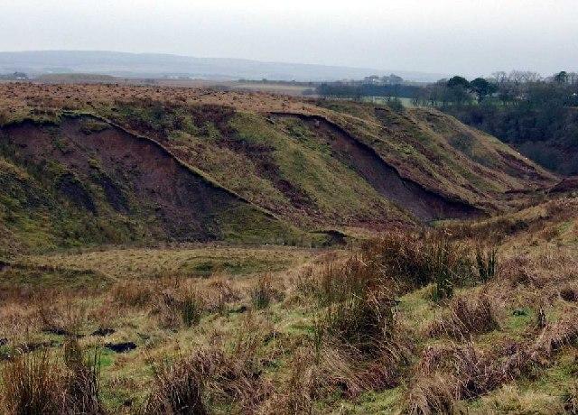 Erosion on a burn flowing off Meath Hill
