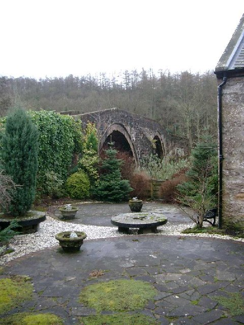 Old bridge over the river Ayr at Sorn