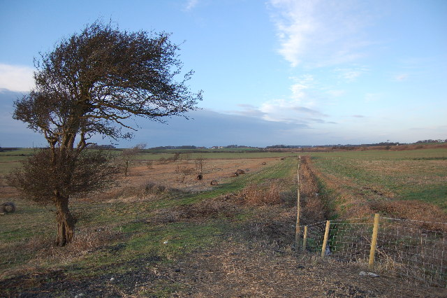Farm land with Preston Blackpool Railway
