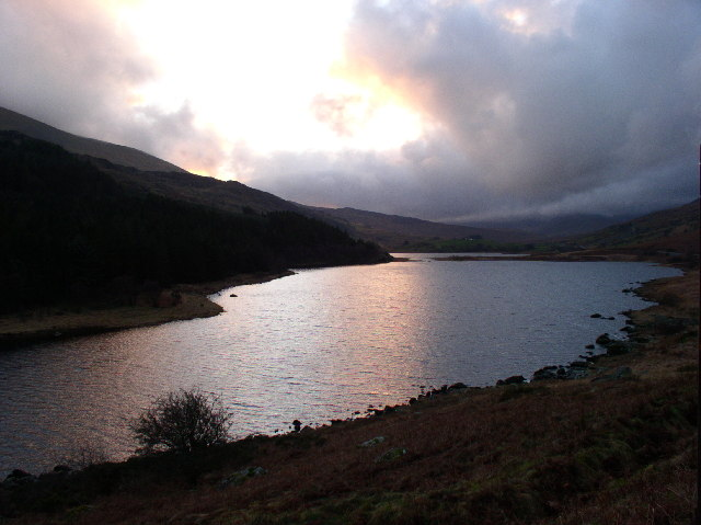 Llynnau Mymbyr at Sunset