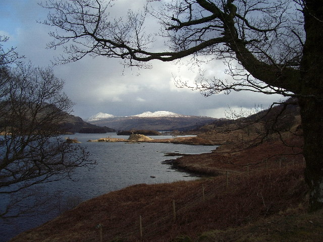 The small peninsula,  Rubha na Moine on Loch Katrine