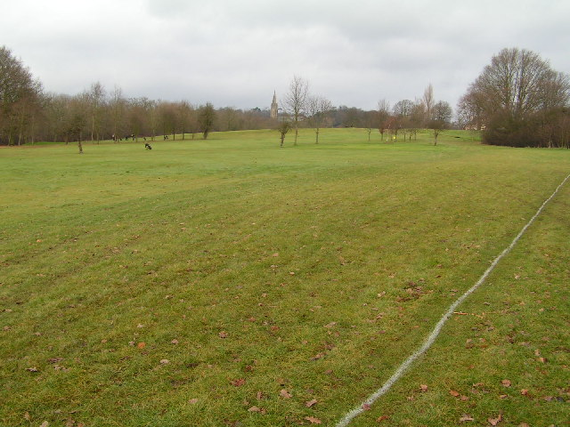 Earlswood golf course from Public right of way
