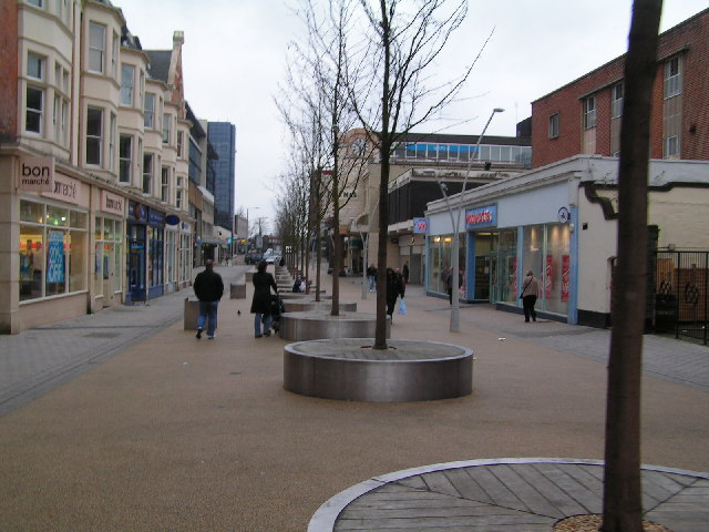 Pedestrianised Shopping Street