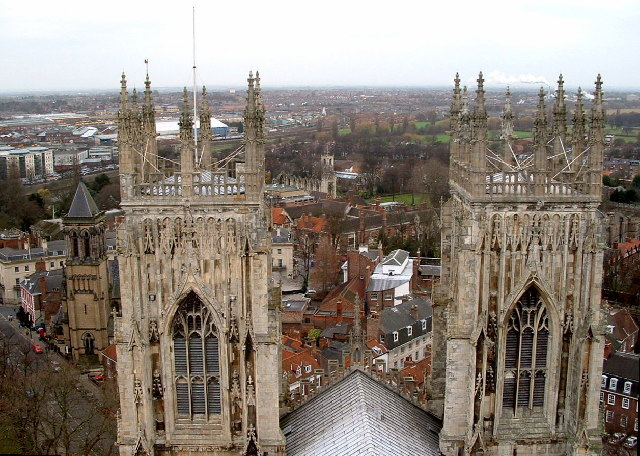 The view westward from York Minster