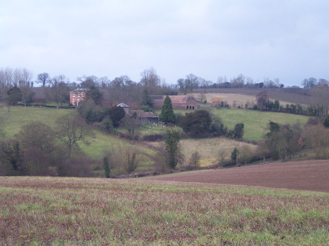 Acton Beauchamp Church and Church House Farm