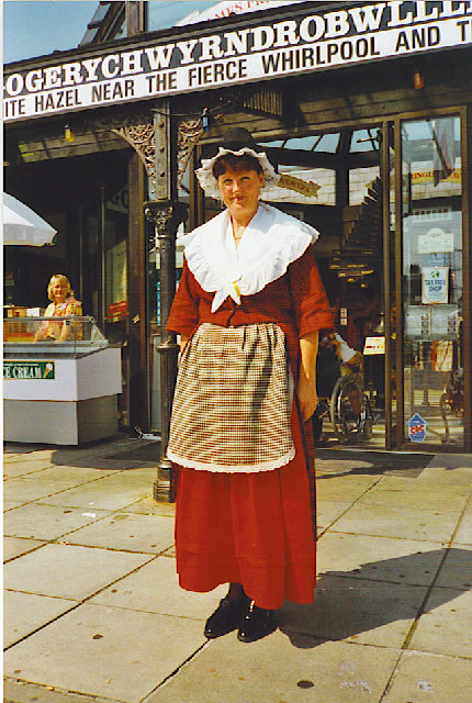 Welsh National dress at LlanfairPG