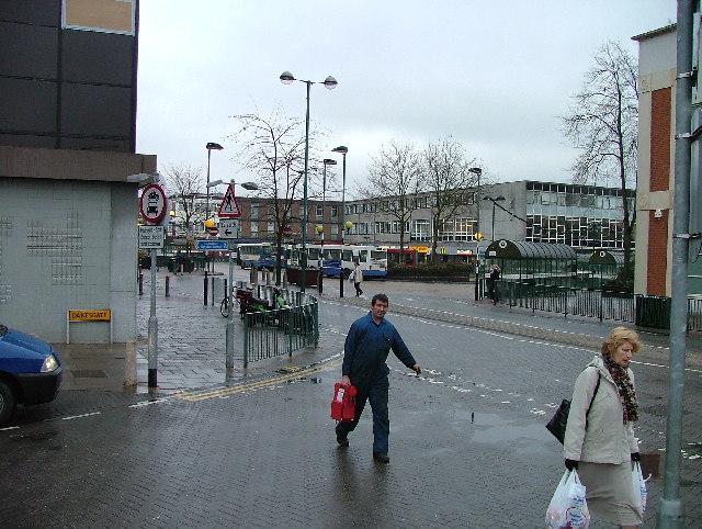 Stevenage Bus Station.