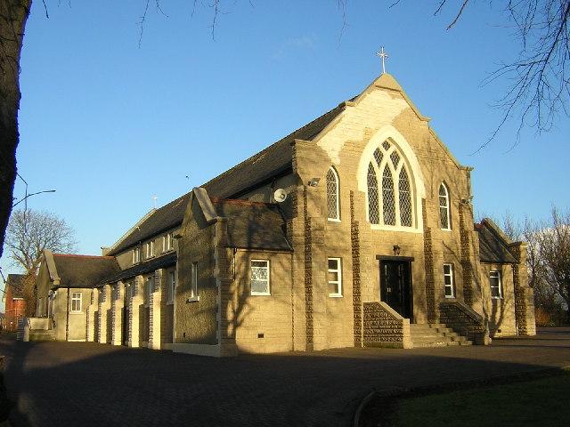 St. Columba's RC Church on Old Edinburgh Road, Viewpark