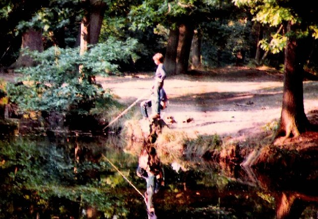 Fishing in Fishponds Wood at Ightham