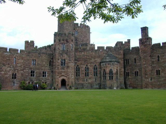 Courtyard of Peckforton Castle.