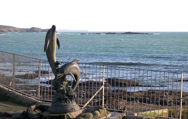 Dolphin Statue, Marazion