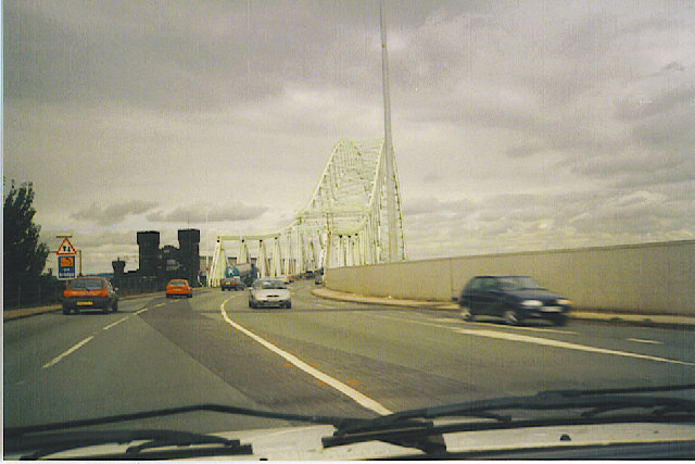 Runcorn Bridge.