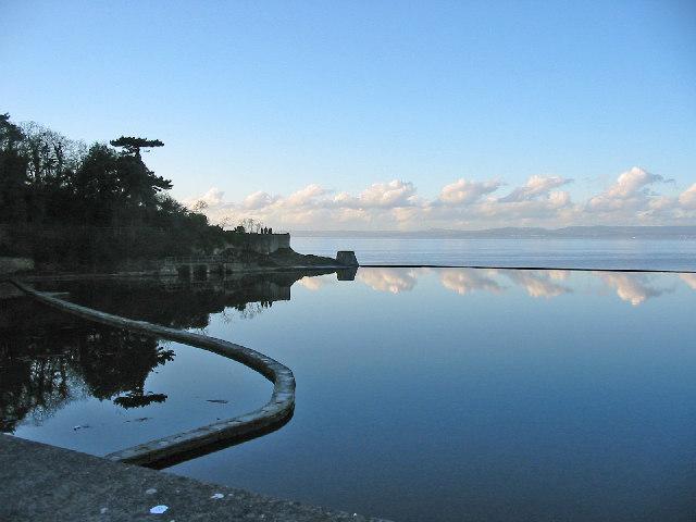 Tidal lake Clevedon Somerset