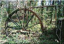 SW7838 : Mylor: waterwheel at Carclew by Martin Bodman