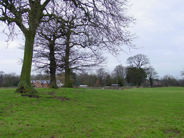 On footpath south of Old Hall near Swettenham