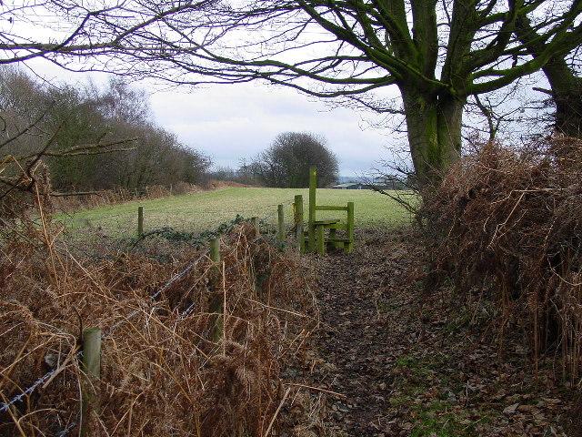 Footpath west of Radnor Hall Farm