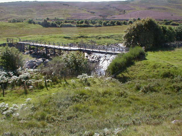 Footbridge over the River Garry