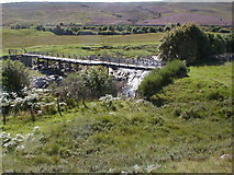 NN7668 : Footbridge over the River Garry by Dave Fergusson