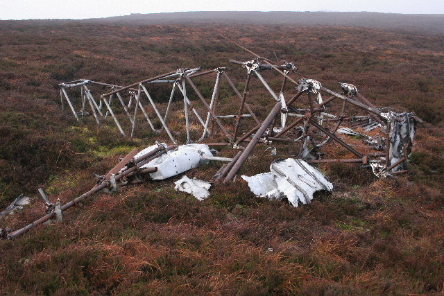 Remains of Hawker Audax on Hill of Edendocher