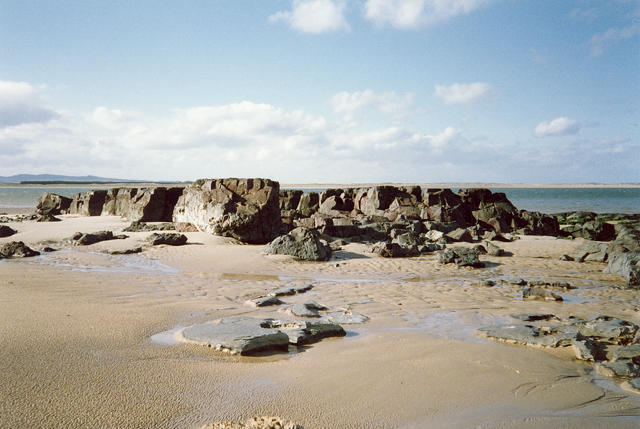 Rock formations at Budle Bay, Northumberland