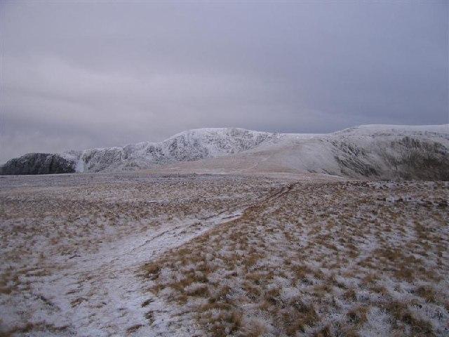 Broad Plateau west of Craig Eigiau