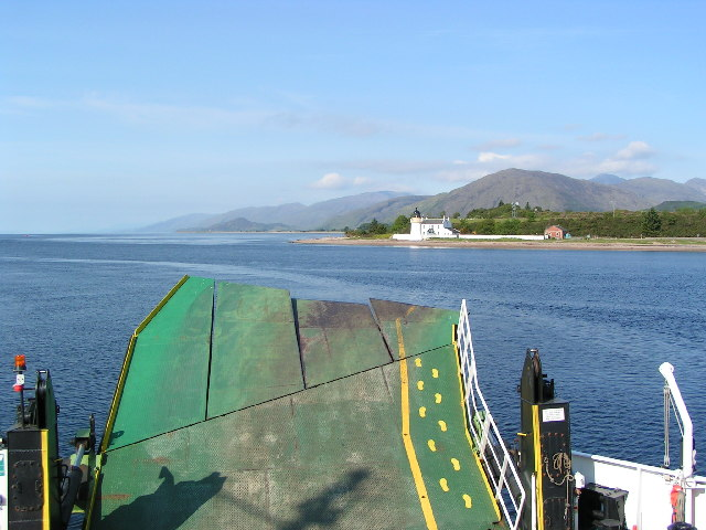 Corran Lighthouse from the ferry