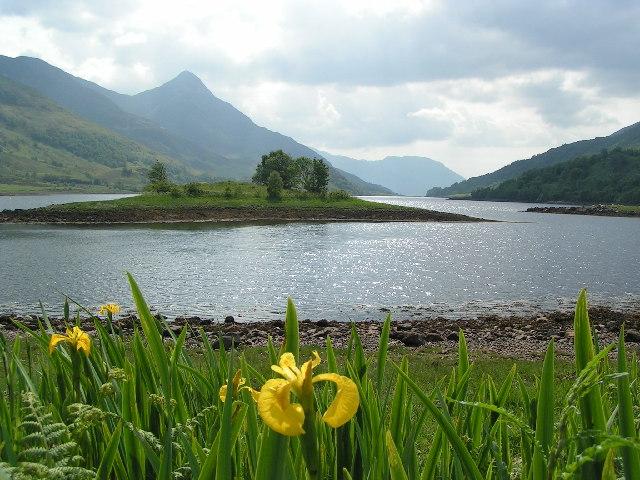 Eilean nam Ban on Loch Leven