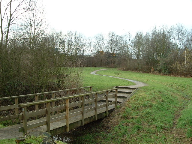 Footbridge, near the M6, Birchwood