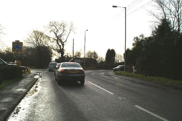 Junction of Leyland Lane (B5253) and the A581