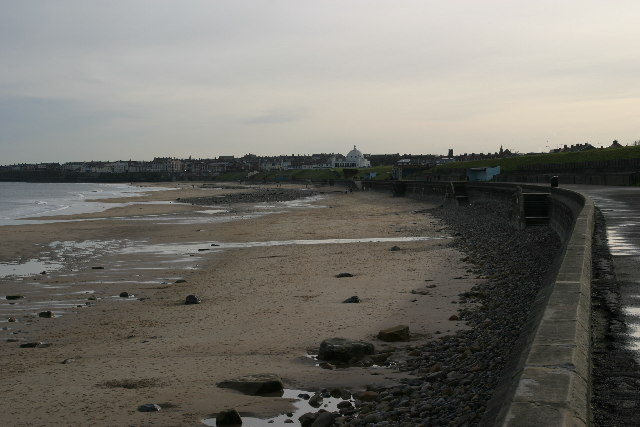 Whitley Bay beach from the promenade