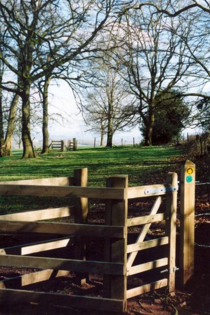 The West Mendip Way leaving Battlefields Wood