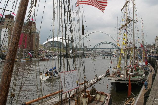 Tall Ships 2005 at Newcastle Gateshead Quayside