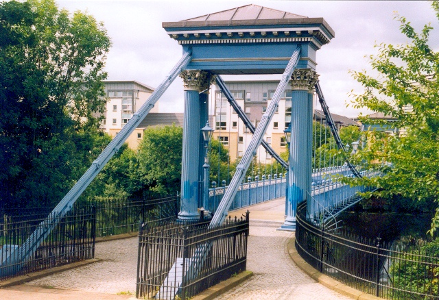Footbridge at Glasgow Green