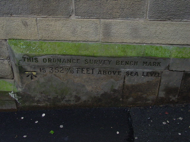 Bench Mark on Hawick Town Hall