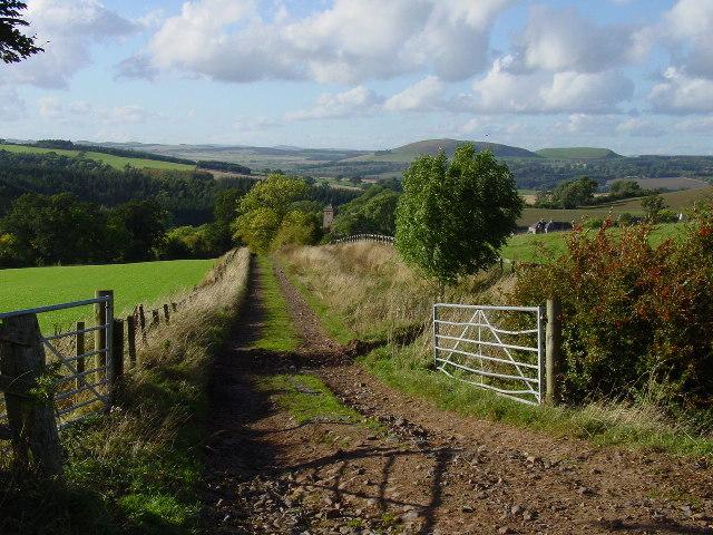 On the Borders Abbey Way near Bedrule