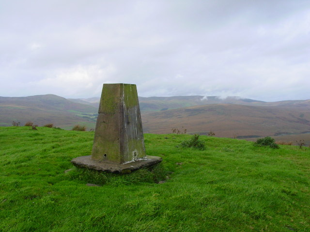 Trig point on Arnton Fell