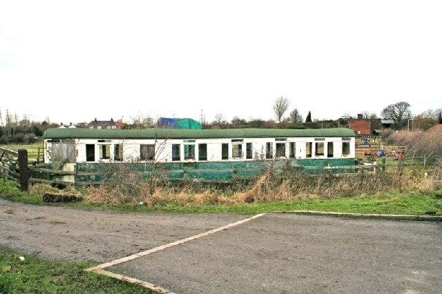 Burton Salmon Village, Old Railway Carriage on Ledgate Lane