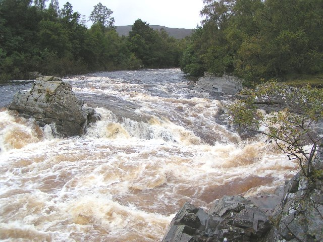 Falls on the River Garry