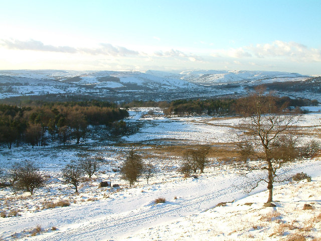 Looking north west over the Longshaw Estate from the B6055 road.