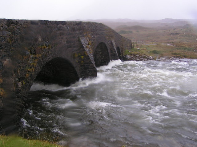 River Sligachan in spate.