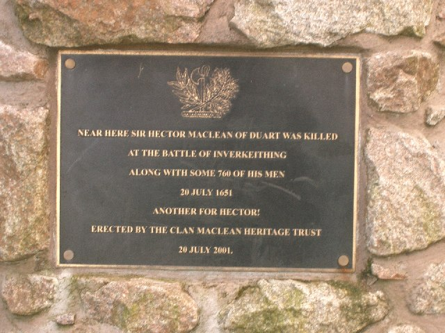 Plaque on memorial cairn
