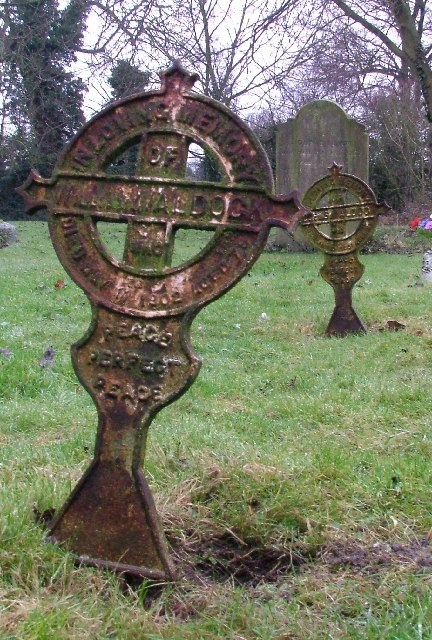 Iron grave markers