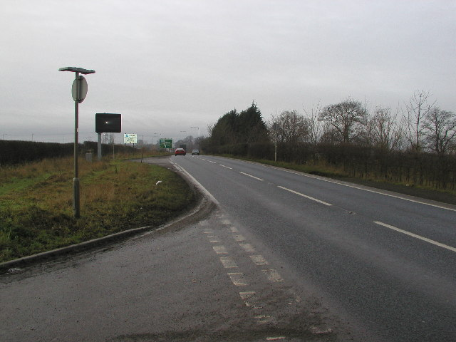 The A166 looking towards York