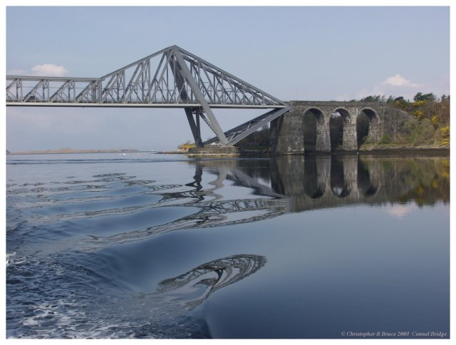 Connel Bridge on a calm day