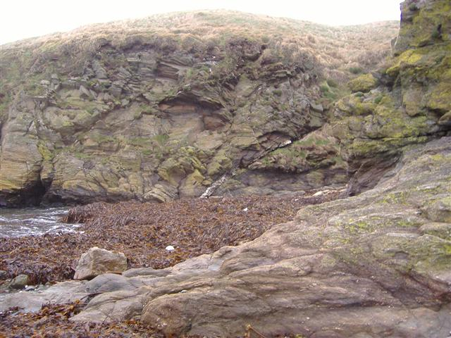 Geological fault at Niarbyl
