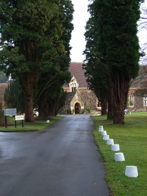 The entrance to St David's, Ascot Priory