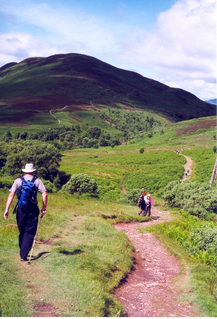 West Highland Way approaching Conic Hill