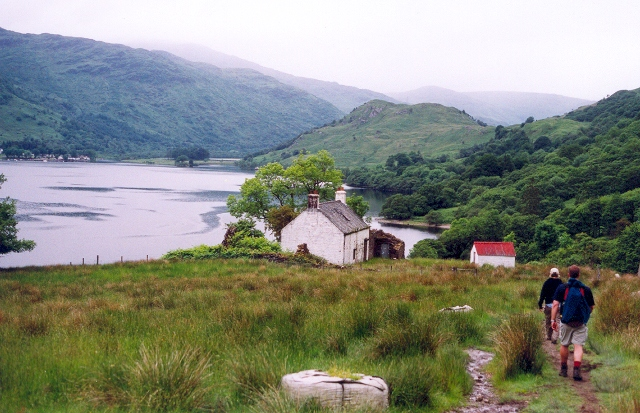 The West Highland Way at Doune on Loch Lomond