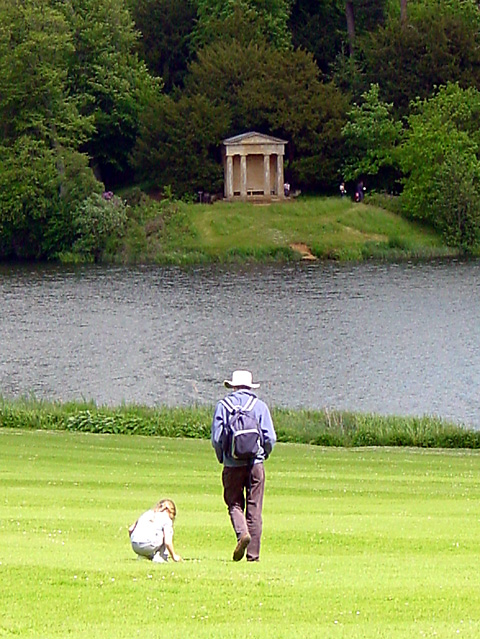 Doric Temple and Lake, Bowood House